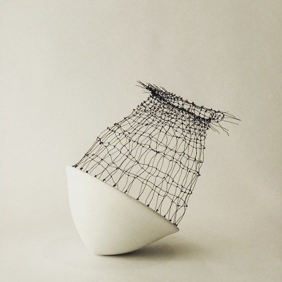 lumen yana sculptural pottery via cala design