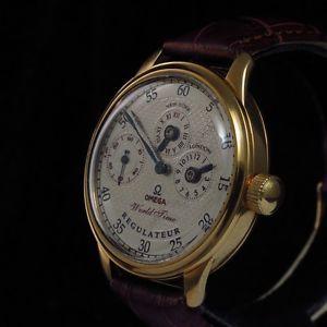 GOLD 1936 OMEGA SWITZERLAND Vintage REGULATEUR Watch WORLD TIME