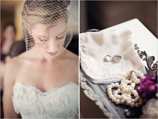 perfect veil and perfect ring idea for the ceremony