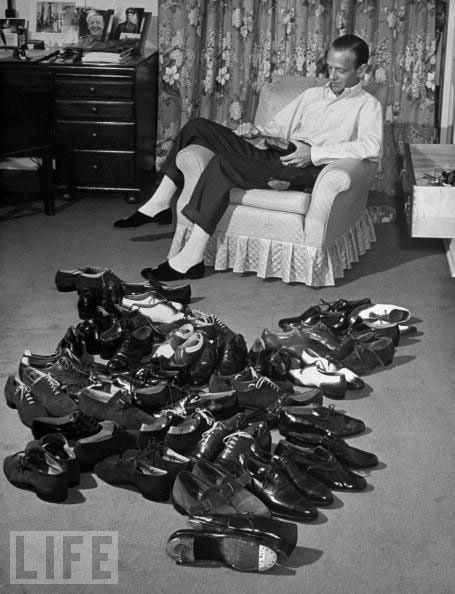 Fred Astaire and his shoes.