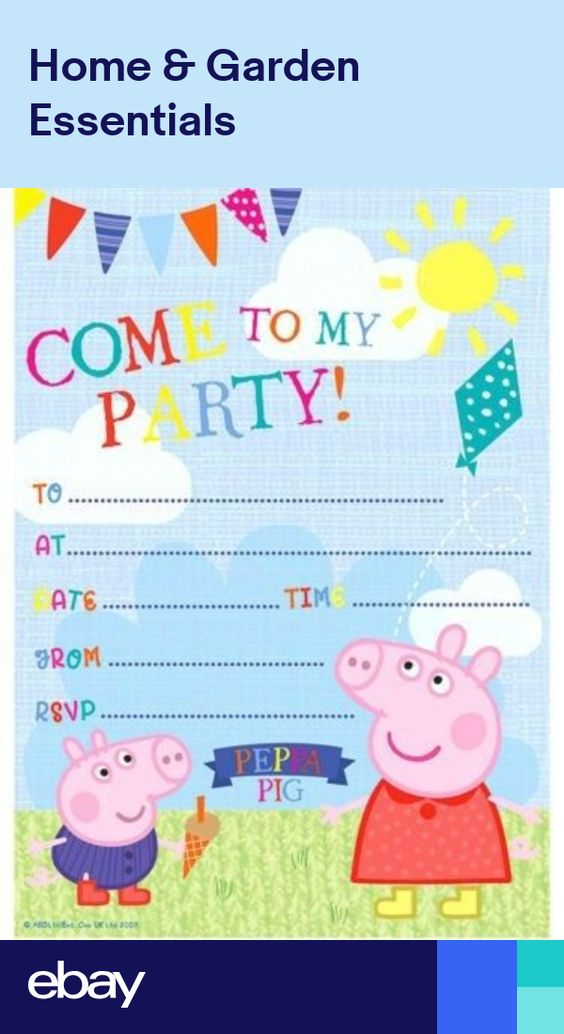 Official Peppa Pig Invitation Sheets 20 Pack George Birthday Party Invites Kids In 2021 Peppa Pig Birthday Invitations Pig Birthday Invitations Peppa Pig Invitations