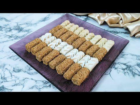 لفة التمر المقروض الأبيض أو مقروض النقش للسهرات الرمضانية أو حلويات العيد Youtube Rice Krispie Treat Food Krispie Treats