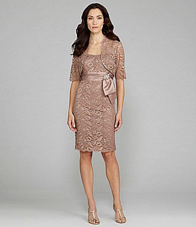 Lace jacket jacket dress and dillards on pinterest for Dillards wedding dresses mother of the bride