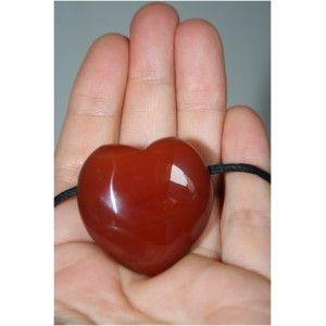 Hanger Hart - Rode Jaspis