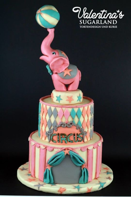Cute! Girly Circus Cake