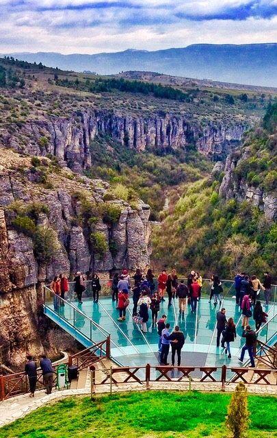 Terrasa de cristal en Safranbolu, Turquía