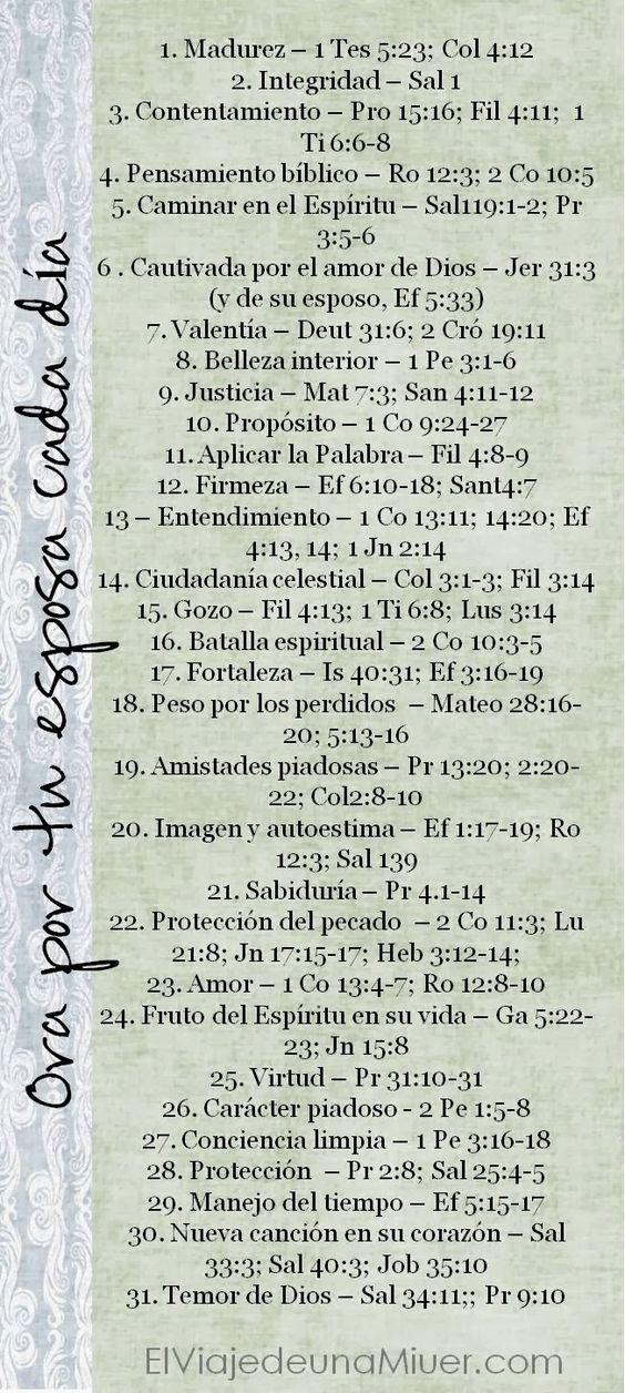 Calendario de oración para esposos