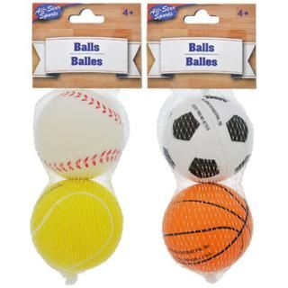 All-Star Sports Foam-Rubber Balls, 2-ct. Packs image