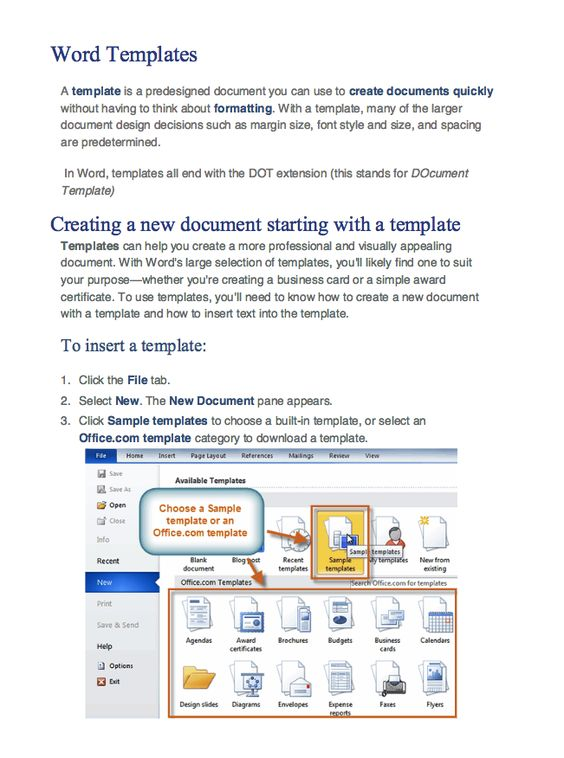 how to create word templates -    resumesdesign how-to - creating a resume in word