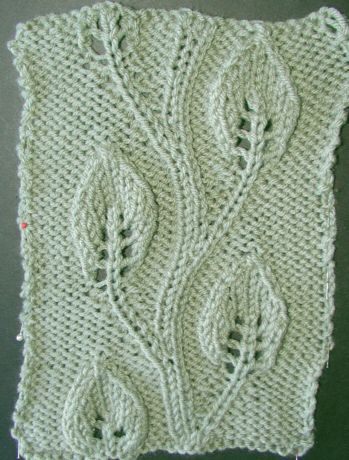 Vine Leaf Knitting Pattern : Embossed Twining Vine Leaf Knitting, Stitches and Patterns