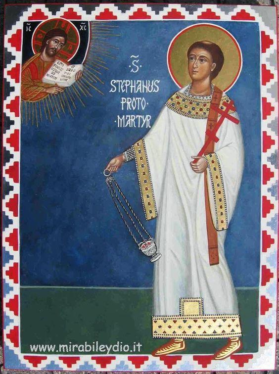 Santo Stefano martire:26 dicembre | iconesacremirabile: