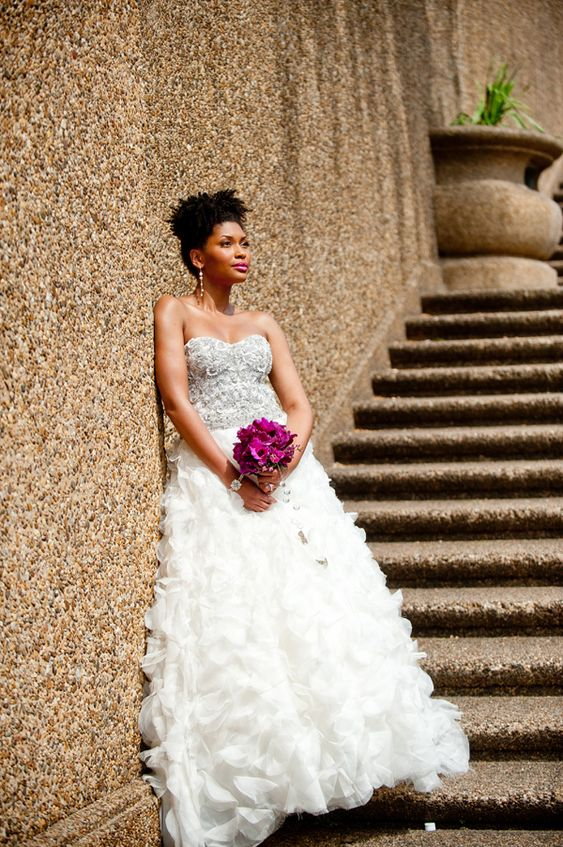 Wedding Dresses In Zambia : Africanamerican natural hairstyle black brides modage