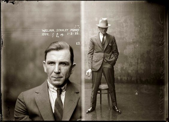 Mugshot from the 1920s.