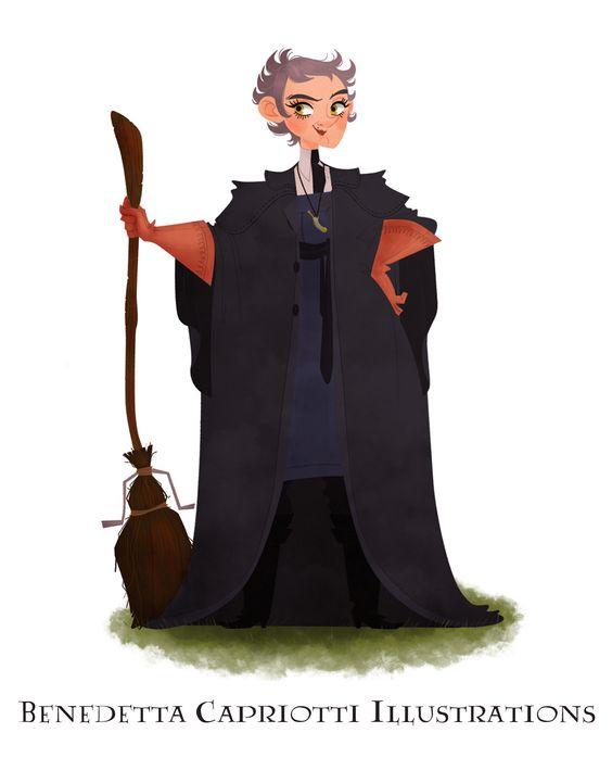 Madam Rolanda Hooch Harry Potter On Behance Harry Potter Cartoon Harry Potter Characters Harry Potter
