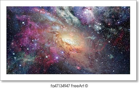 Free Art Print Of Open Space With Nebulae And Galaxies Elements