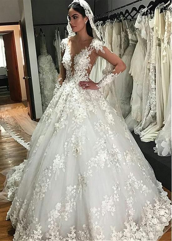 Details about  /Ivory A-line Lace Up Satin Wedding Dress Sleeveless Halter Appliques Chapel Gown