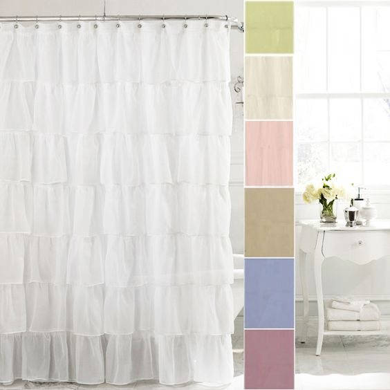 80 Inch Shower Curtain Liner Nylon Shower Curtain