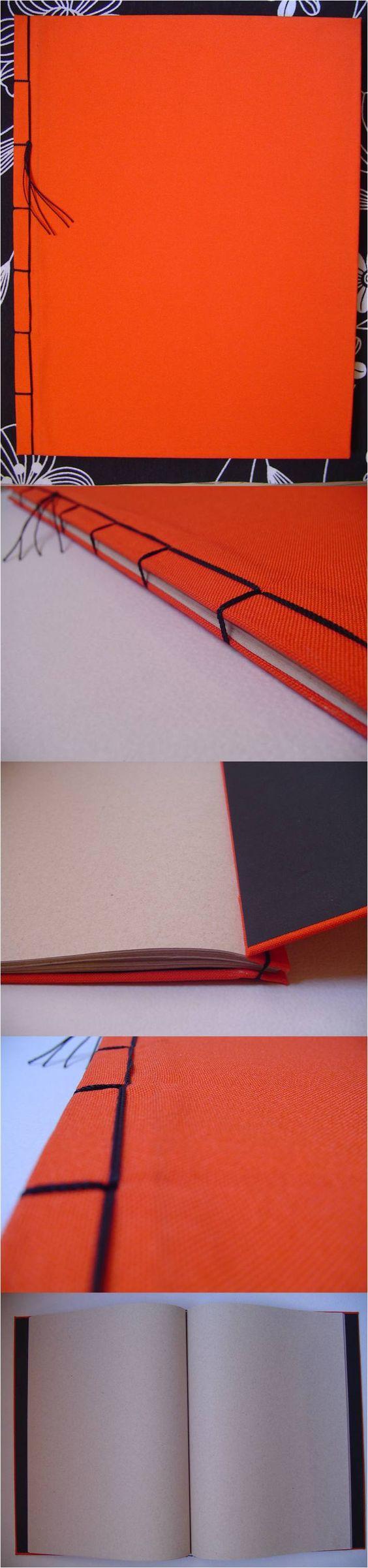 Cuaderno tamaño carta hecho a mano. 100 páginas, hojas recicladas. Pastas forradas de tela. *** Encuadernado, encuadernación, book binding, stab binding, manualidades