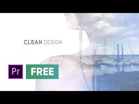 Free Premiere Pro Template Double Exposure Slideshow Youtube Double Exposure Premiere Pro Premiere Pro Cc