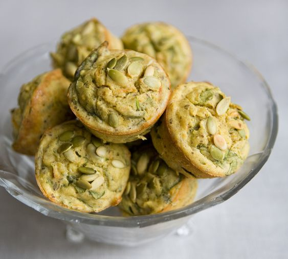 Glutten Free Spinach and Carrot Muffins.