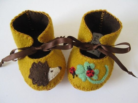Cool Mom Picks Editors Best for 2010-So cute Hedgehog, Ladybird and Clover ECO Baby Booties/Shoes/Slippers