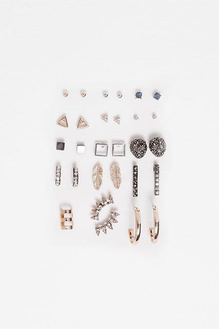 $10-$25There's no such thing as too many studs.Zara Pack of Shiny Earrings, $19.90, available at Zara. #refinery29 http://www.refinery29.com/best-affordable-christmas-gift-ideas#slide-29