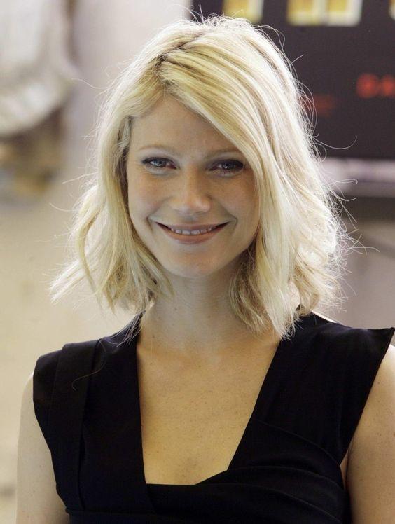 tousled bob || Gwyneth Paltrow: