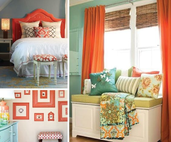 Coral and Blue rooms: