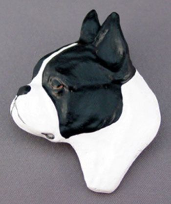 Boston Terrier Dog Jewelry Pin at For Love of a Dog