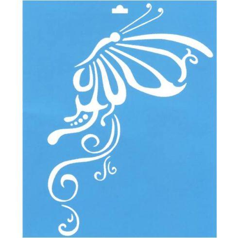 Plantilla de stencil 21 1x17 2cm stm 012 mariposa - Plantillas de mariposas ...