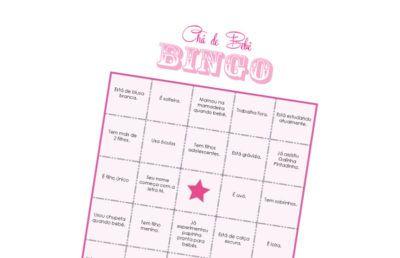 bingo para chá de bebê dicas e modelos                                                                                                                                                     Mais