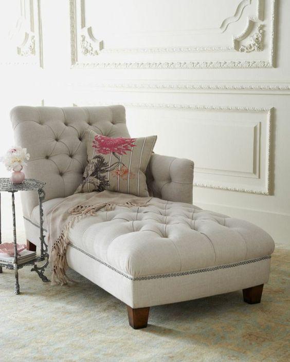 méridienne convenable de couleur gris, canape meridienne design élégant: