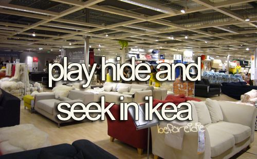 This would be so much fun! :) Bethany if you go to ikea with us we should totally do this!