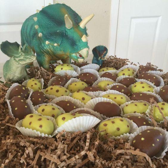 how to make dinosaur egg cake pops