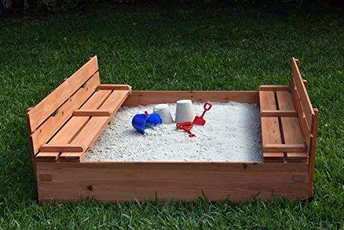 Naomi Home Kids Cedar Sandbox With 2 Benches Kids Sandbox