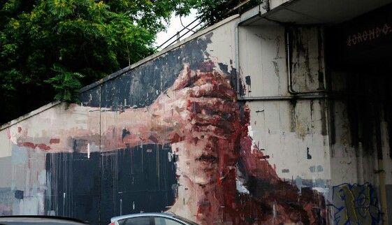 Borondo New Mural In Rome, Italy