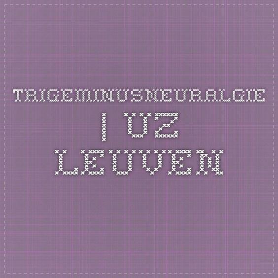 Trigeminusneuralgie | UZ Leuven