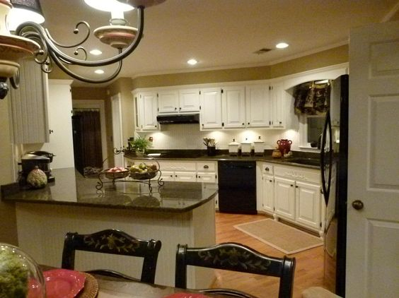 Pinterest the world s catalog of ideas for Beige painted kitchen cabinets