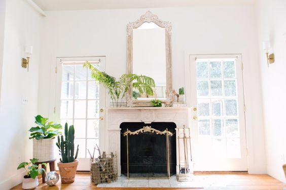 fresh white paint and green plants brighten up a small cottage | Photography: This Girl Sylvia