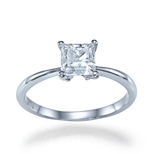 I just want a plain simple single square engagement ring