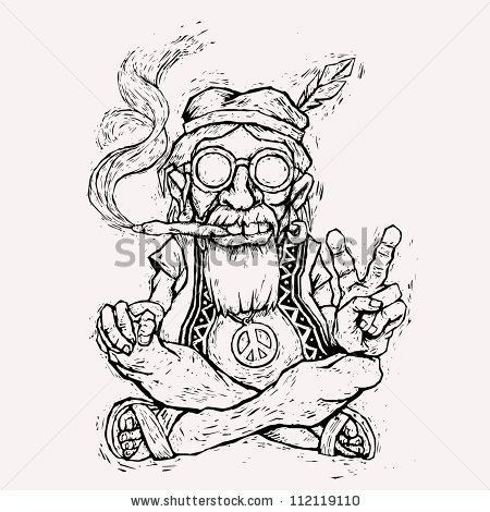 Marijuana Coloring Hippie Coloring Pages Pictures To Pin On Pinterest