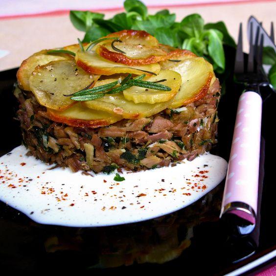 Découvrez la recette Parmentier de canard sur cuisineactuelle.fr.