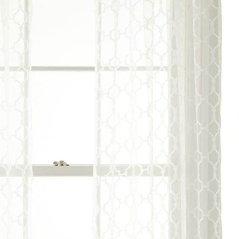 queen street walton rod pocket sheer curtain panel jcpenney 33