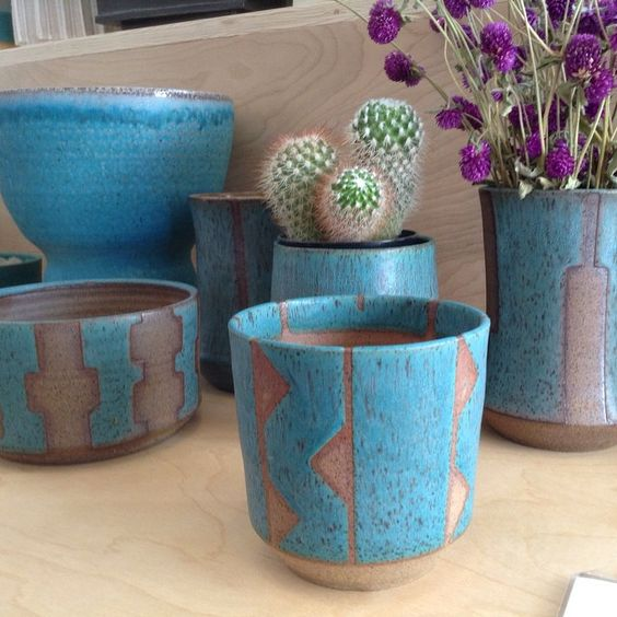 bkbceramics:  Some new blues in the shop for the holidays #sodafire #ceramics #joshustree