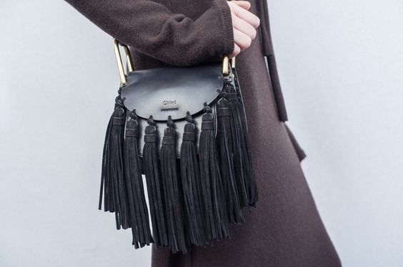 The new Hudson shoulder bag from Chloé comes embellished with tassels: