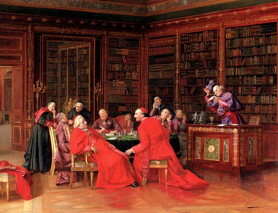 Francesco Brunery  the Elder  , also known as Frappachino Brunson and as François Bruneri (1849-1926) —   A Tedious Conference, 1898-1909  (1000×766)