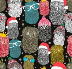 Sem costura padrão com grupo de owls. vector art illustration