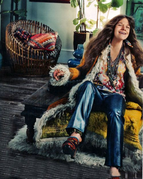 Janis and the sixties...all in one photo: