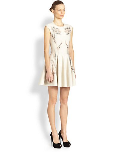 Alexander McQueen - Floral Flare Dress - Saks.com