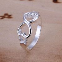 Ring infinity love heart